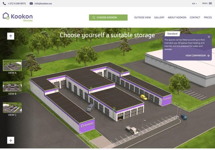 Kookon smart storage website
